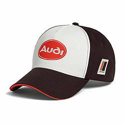 Бейсболка Audi heritage Cap, brown / white артикул 3132000600