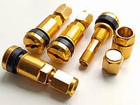 Ниппель, вентиль разборный для литых и стальных дисков (Золотой матовый)