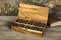 Именной деревянный органайзер для часов, украшений, личных вещей. Элитный подарок жене, девушке, сестре, маме