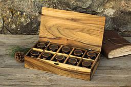 Іменний дерев'яний органайзер для годинників, прикрас, особистих речей. Елітний подарунок дружині, дівчині, сестрі, мамі