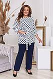 Стильный костюм двойка блуза-туника + брюки, разные цвета,р.48-50,52-54,56-58,60-62,64-66 Код 3362Ф, фото 2