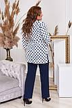 Стильный костюм двойка блуза-туника + брюки, разные цвета,р.48-50,52-54,56-58,60-62,64-66 Код 3362Ф, фото 3