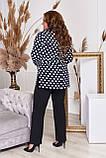 Стильный костюм двойка блуза-туника + брюки, разные цвета,р.48-50,52-54,56-58,60-62,64-66 Код 3362Ф, фото 10