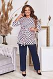 Стильный костюм двойка блуза-туника + брюки, разные цвета,р.48-50,52-54,56-58,60-62,64-66 Код 3362Ф, фото 7