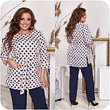 Стильный костюм двойка блуза-туника + брюки, разные цвета,р.48-50,52-54,56-58,60-62,64-66 Код 3362Ф, фото 6