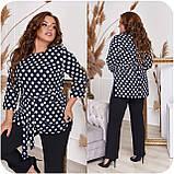 Стильный костюм двойка блуза-туника + брюки, разные цвета,р.48-50,52-54,56-58,60-62,64-66 Код 3362Ф, фото 8