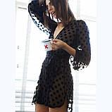 Эротический женский халат в горошек, фото 4