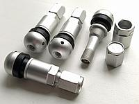 Ниппель, вентиль под датчик, разборный для литых и стальных дисков (Серебристый матовый)
