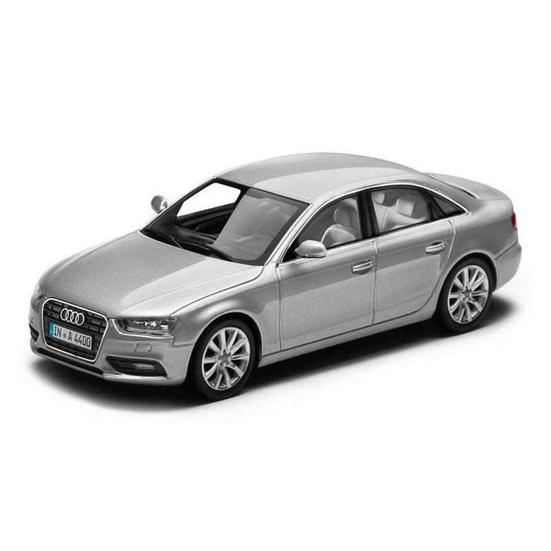 Модель Audi A4, Ice silver, Scale 1 43, артикул 5011204113