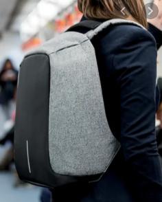 Городской рюкзак антивор Bobby bag grey (Серый)