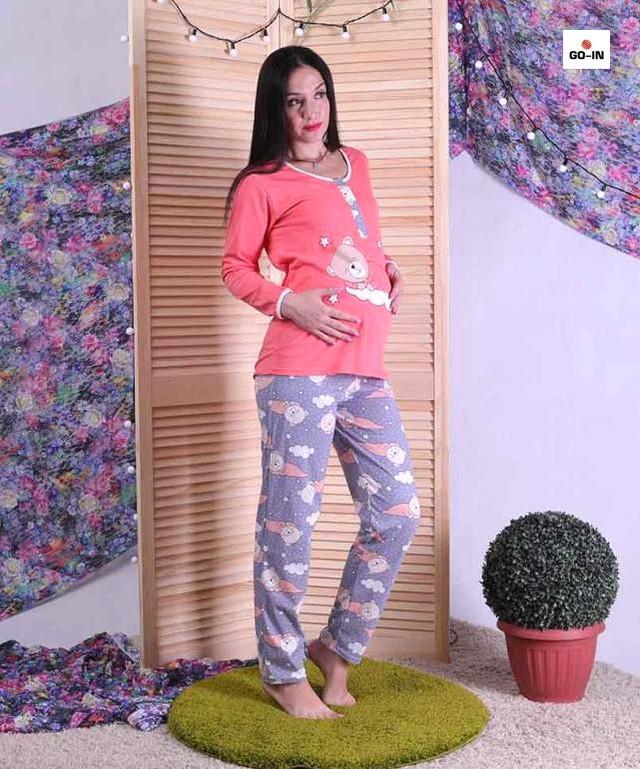 Піжама жіноча для вагітних рожева 44-52 р.