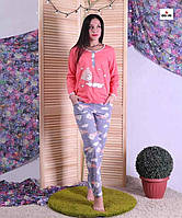 Пижама женская для беременных кофта со штанами розовая 44-52 р.