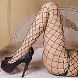 Женские Колготки в крупную сетку со стразами, фото 6