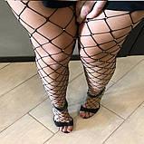 Женские Колготки в крупную сетку со стразами, фото 7