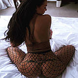 Женские Колготки в крупную сетку со стразами, фото 8