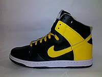 Кроссовки найки данк nike dunk черн+желт. реальные фотки зима