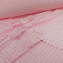 Плюш минки (Minky Dots) нежно-розовые 1600 мм