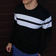 Мужской свитшот черный, худи мужской 100 % хлопок Размер S-XL