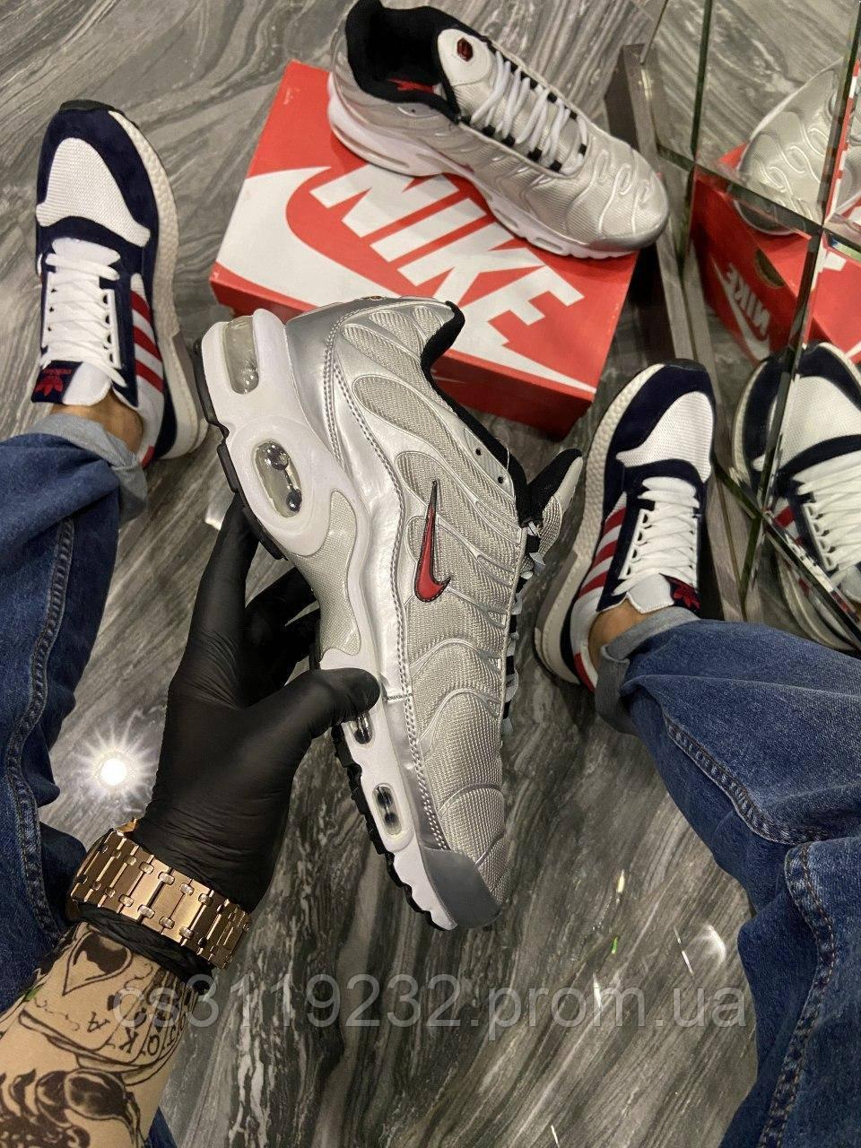Мужские кроссовки Nike Air Max TN Silver (серые)