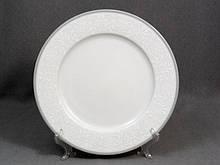 Тарілка десертна Thun Opal (Обведення сіра) 6 штук d19 см фарфор (8034800)