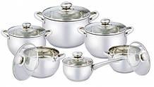 Набір посуду Vincent 12 предметів нержавійка (3033 VC)