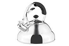Чайник Vinzer Superia 2,6л нержавейка, Чайник со свистком из нержавейки, Чайник с ручкой и крышкой нержавейка