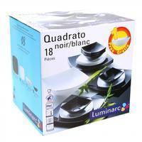 Сервиз столовый Luminarc Quadrato Black&White 18 предметов стеклокерамика (5239)