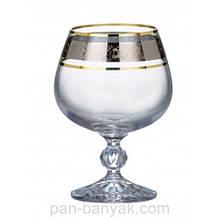 Набор бокалов для коньяка Bohemia Claudia 6 штук 250мл d6 см h11,5 см богемское стекло (40149-43249/250)