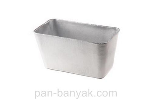 Форма для выпечки Полімет  хлеба 21х11 см h11,5 см литой алюминий (3050 кирпич П)