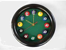 Часы бильярдные круглые в бильярдную