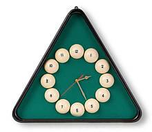 Часы бильярдные Русская пирамида с настоящими шарами для бильярдной