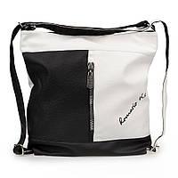 Женская сумка-рюкзак через плечо Sorella 9801 черно-белый