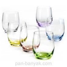 Набор стаканов низких Bohemia Rainbow 6 штук 300мл d7 см h10 см богемское стекло (25180 В4662/300)