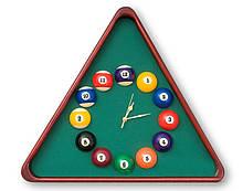 Часы бильярдные Американский пул с настоящими шарами для бильярдной