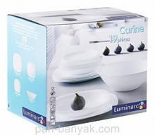 Сервиз столовый Luminarc Carine White 19 предметов стеклокерамика (6344E/N2185)