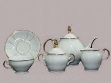 Чайний сервіз Thun Bernadotte (Золоті сонце) на 6 персон 17 предметів 205мл низькі фарфор (180018M)