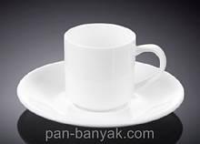Чашка кофейная с блюдцем Wilmax  90мл фарфор (993007 WL)