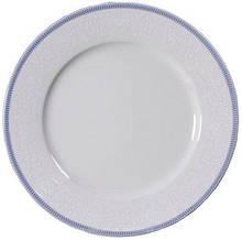 Тарілка обідня Thun Opal (Обведення голуба) 6 штук d25 см фарфор (8013601)
