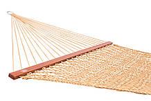 Плетений Гамак золотого кольору Arlio Rome. Одномісний з планкою 3м х 0.93 м