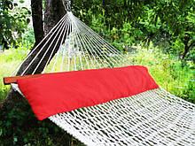 Подушка для гамака красного цвета метровая из натуральной ткани