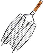 Решітка для риби Скаут подвійна 36х25 см h3,5 см метал (0709 Скаут)