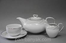 Чайний сервіз Cmielow Ivonne 615 на 6 персон 15 предметів фарфор (E615)