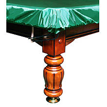 """Чехол для бильярдного стола """"10 футов"""" с резинкой на лузах влагостойкий зеленого цвета"""