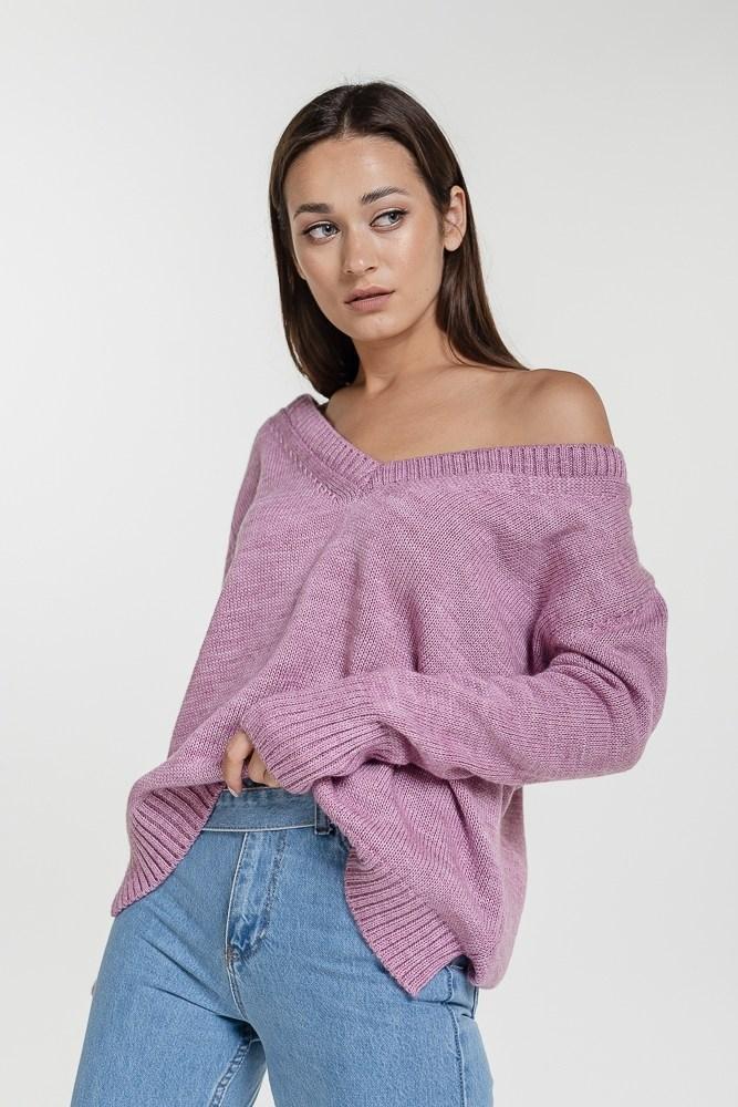 Женский вязаный пуловер