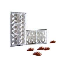 """Форма для шоколаду Chocolate World """"канеллі"""" 16 штук 7мл 4,5х2,5 см h1,2 см полікарбонат (1692 CW)"""