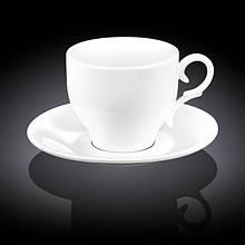 Чашка чайная с блюдцем Wilmax  330мл фарфор (993105 WL)