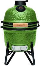 Керамическая гриль-печь с гнездом для корпуса и решеткой из стали зеленого цвета BergHOFF Studio (2415704)