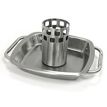 Стійка для курки з піддоном для жиру з нержавіючої сталі 20 х 20 х 12 см Broil King (69133)