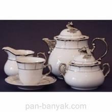 Чайний сервіз Thun Menuet (Обведення платина) на 6 персон 17 предметів 230мл фарфор (7224800)