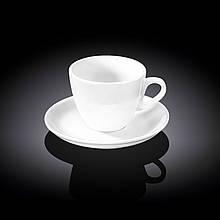 Чашка кофейная с блюдцем Wilmax  190мл фарфор (993175 WL)